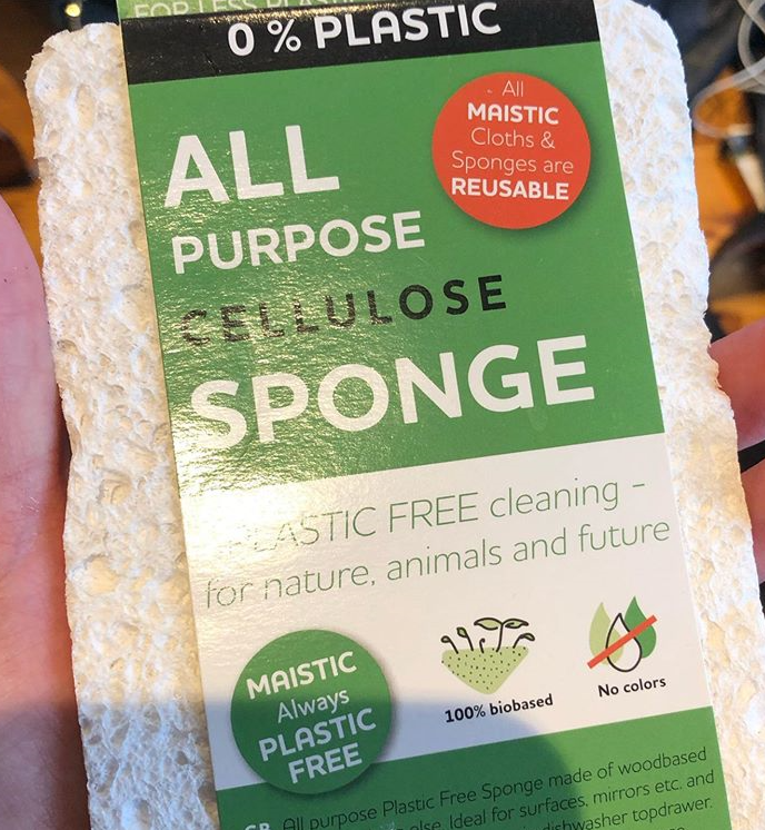 Cotton pads and plastic free sponges  - January 20th, 2020