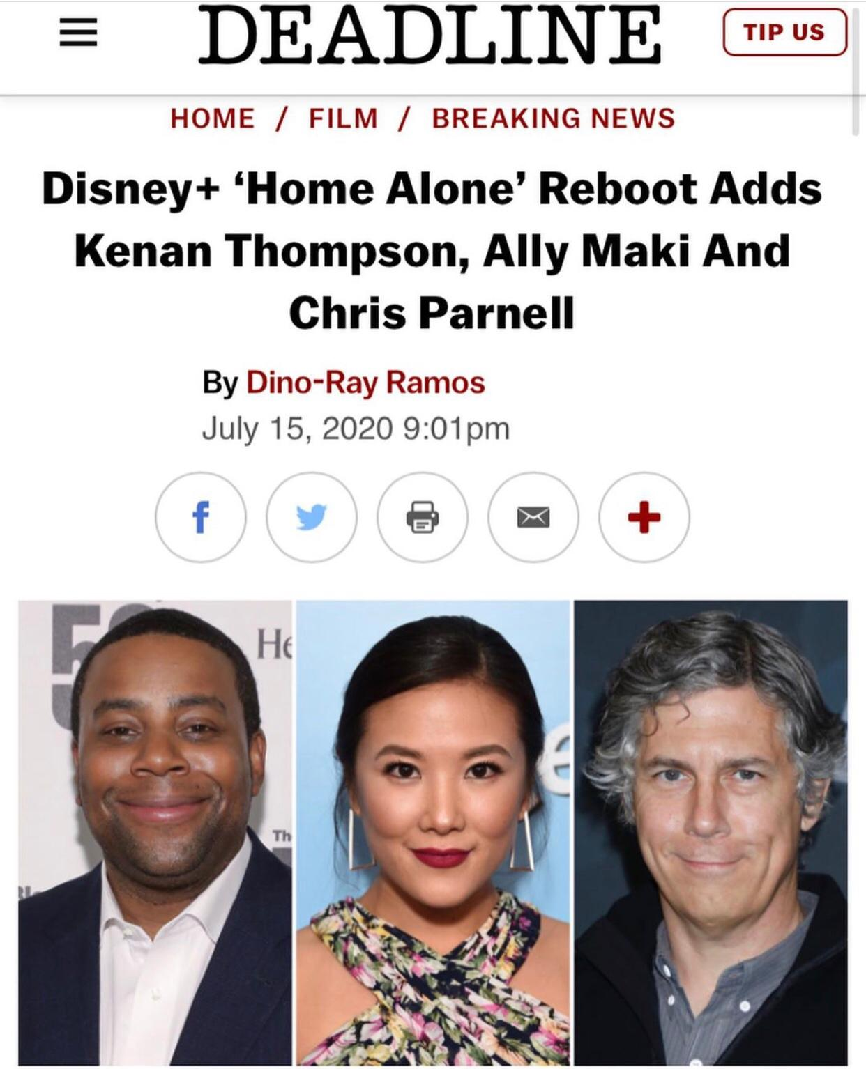 Disney+ 'Home Alone' Reboot Cast announced  - July 16th, 2020