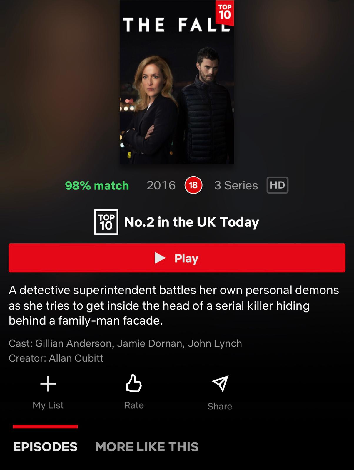 The Fall on NETFLIX  - September 8th, 2020