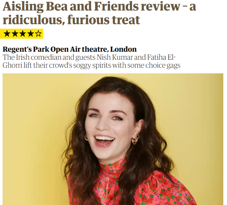 Aisling Bea & Friends  - July 5th, 2021